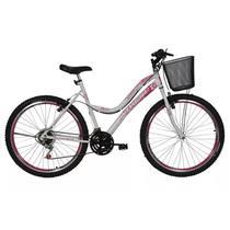 Bicicleta musa aro 26  feminina 18v com cesta athor  cd -