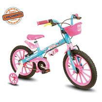 Bicicleta Nathor Candy Azul/Rosa Aro 16 Feminina -