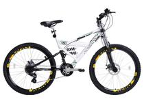 Bicicleta Oceano Snapper Mountain Bike Aro 26  - 21 Marchas Tripla Suspensão Freio a Disco
