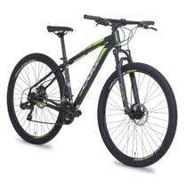 Bicicleta oggi hacker sport aro 29 preto e verde 2018 -