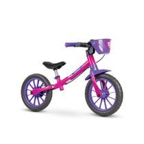 Bicicleta para equilibrio infantil meninas balance bike feminina 02 sem pedal - rosa - Nathor