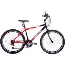 Bicicleta Passeio Medal Aro 26 Tm17 Vermelha e Preta Houston -