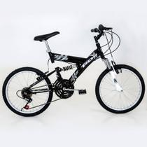 Bicicleta Polimet Kanguru Full Suspension Aro 20 V-brake Infantil 18v - Poli Sports