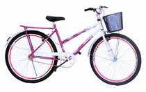 Bicicleta poti onix com aero e mesa cross na cor pink com branco -