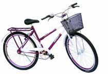 Bicicleta poti wendy com aero e mesa cross na cor violeta com branco -