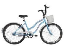 Bicicleta Retro Vintage Aro 26 Feminina Beach Azul Bebe - Dalannio Bike
