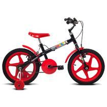 Bicicleta Rock - Aro 16 - Preto e Vermelha - Verden Bikes -