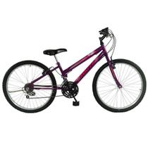 Bicicleta SOUTH BIKE Love Girl 18 Velocidades Aro 24 Feminina Violeta -