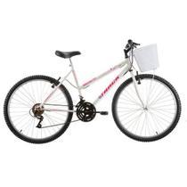 Bicicleta Track & Bikes Serena Aro 26 18V Branco -