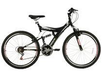 Bicicleta Track  Bikes TB 300 Aro 26 18 Marchas - Dupla Suspensão Quadro de Aço Freio V-Brake