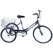 Bicicleta Triciclo Aro 26 cor Grafite - Dalannio Bike