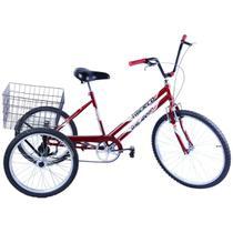 Bicicleta Triciclo Aro 26 cor Vermelho - Dalannio Bike