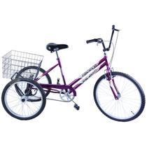 Bicicleta Triciclo Aro 26 cor Violeta - Dalannio Bike