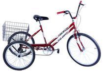 Bicicleta Triciclo Aro 26 Vermelho - Dalannio Bike -