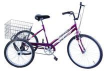 Bicicleta Triciclo Aro 26 Violeta - Dalannio Bike -