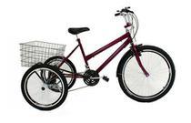 Bicicleta Triciclo Luxo Aro 26 Completo Com 21 Marchas - Wendy
