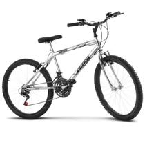 Bicicleta ultra aro 24 masculina freio v break chrome line - Ultra Bikes