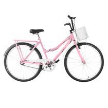 Bicicleta Ultra Bikes Summer Vintage Aro 26 Rosa/Bebe/Branco -
