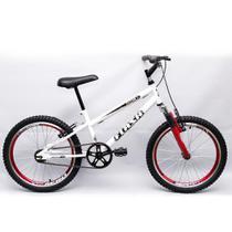Bicicleta Ultra Cross BMX Aro 20 Suspensão V-Break Branca -