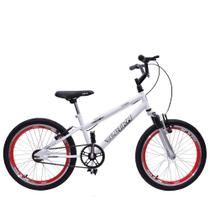 Bicicleta Ultra Cross BMX Aro 20 Suspensão V-Break Branca