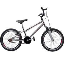 Bicicleta Ultra Cross BMX Aro 20 Suspensão V-Break Cromada - Garra