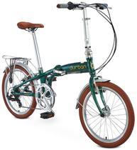 Bicicleta Verde Dobrável 6 Marchas Sampa Pro Durban -