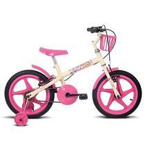 Bicicleta Verden Fofys Aro 16 Infantil Bege/Fucsia 10434 -