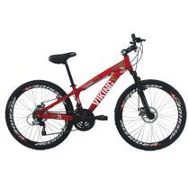 Bicicleta Viking X TUFF25  Freeride Aro 26 Freio a Disco 21 Velocidades Cambios Shimano Vermelho - VikingX -