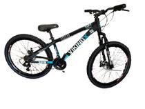 Bicicleta Viking X TUFF30  Aro 26 Freio a Disco 21 Velocidades Cambios Shimano Preto/Azul - Vikingx