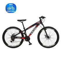 Bicicleta Vikingx 21v Aro Aero 26 Cambio Shimano - Preto/laranja -