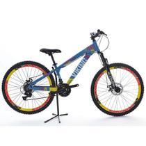 Bicicleta VikingX 21V Shimano Vmaxx Tuff25 Azul/Amarelo -