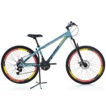 Bicicleta VikingX 21V Shimano Vmaxx Tuff30 Azul/Amarelo -
