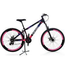 Bicicleta VikingX 21V Shimano Vmaxx Tuff30 Preto/Rosa -