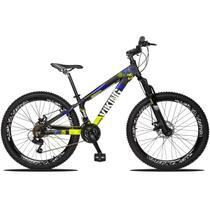 Bicicleta Vikingx Aro 26 Freeride 21 Marchas Câmbios Shimano Freio a Disco -
