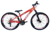 Bicicleta Vikingx Freeride Aro 26 Freio Disco Bike Vermelha -