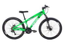 Bicicleta Vikingx Tuff Freeride Freio V-brake Roxo/Mostarda VD Neon -