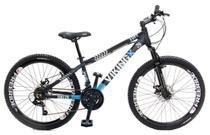 Bicicleta Vikingx Tuff X29 Shimano Freio a Disco Preta Azul Freeride -