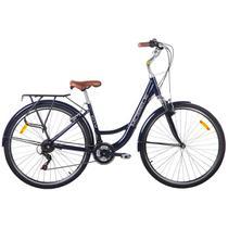 Bicicleta Vintage Retrô Alumínio 21V Shimano City Azul - Mobele