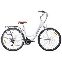 Bicicleta Vintage Retrô Alumínio 21V Shimano City Branca - Mobele