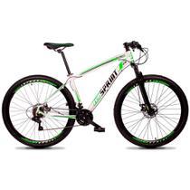 Bicicleta Volcon Quadro 17 Aro 29 Alumínio 21v Câmbio Tras Shimano Freio Mecânico Branco - GT Sprint -