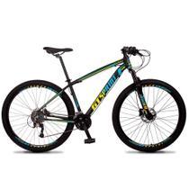 Bicicleta Volcon Quadro 21 Aro 29 Alumínio 27v Freio Hidráulico Preto Amarelo Azul - GT Sprint -
