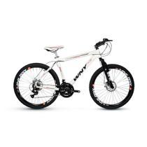 Bicicleta Wny Aro 26 Freio À Disco 21 Marchas Branca -