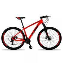 Bicicleta XLT Aro 29 Quadro 17 Alumínio Suspensão Freio Disco 21 Marchas - KSW -
