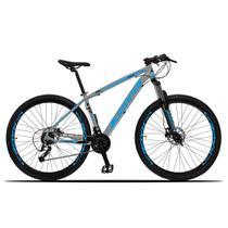 Bicicleta Z3-X Quadro 19 Aro 29 Alumínio 27 Marchas Freio Disco Hidráulico Cinza Azul - Dropp -