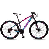 Bicicleta Z4-X Quadro 15 Aro 29 Alumínio 24 Marchas Freio Disco Mecânico Preto Rosa Azul - Dropp -