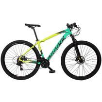Bicicleta Z7-X MTB Quadro 15 Aro 29 Alumínio 21v Freio Disco Mecânico Verde Anis Amarelo - Dropp -