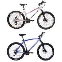 Bicicletas Masculina + Feminina Aro 26 Alumínio 21V Duplo Freio a Disco - Dalannio Bike
