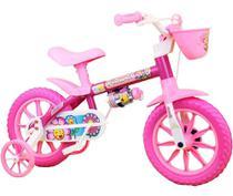 Bicicletinha Bicicleta Bike Infantil Nathor Aro12 Flower -