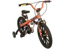 Bicileta Infantil Aro 16 Nathor Extreme Laranja - com Rodinhas Freio V-Break