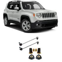 Bieleta + Kit Batente Jeep Renegade Dianteiro 2015 Até 2018 O Par - Spare Kits/Impacto Reposição Automotiva